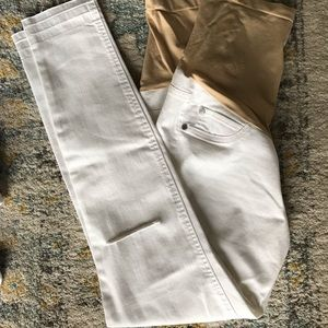 White denim maternity (xs)